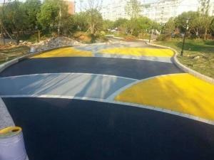 海绵城市透水混凝土艺术广场路