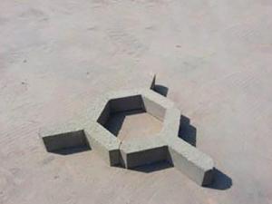 内蒙古水泥制品三角护坡砖